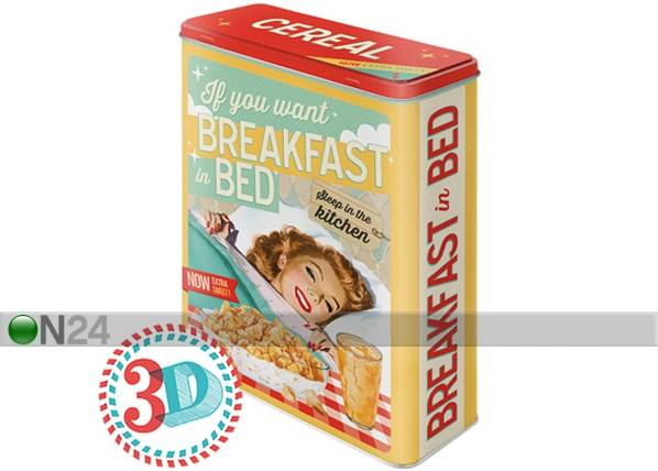 Image of ART Peltipurkki 3D IF YOU WANT BREAKFAST IN BED 4 L