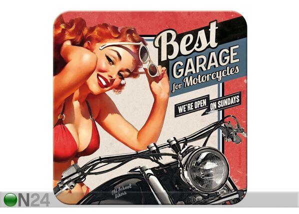 Image of ART Retro lasinalusta BEST GARAGE 4 kpl