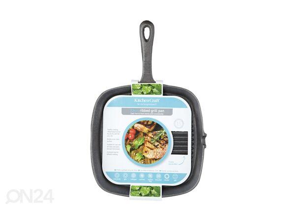 Kitchen Craft Valurauta grillipannu 26x23 cm