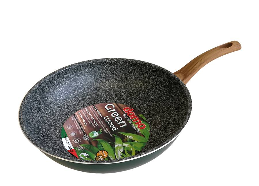 Domo Wok-pannu Green Wood Ø 28 cm