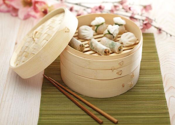 Kitchen Craft Bambu höyrystin Ø 20 cm