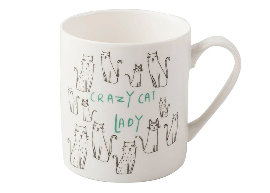 KitchenCraft Muki Crazy cat lady 300 ml