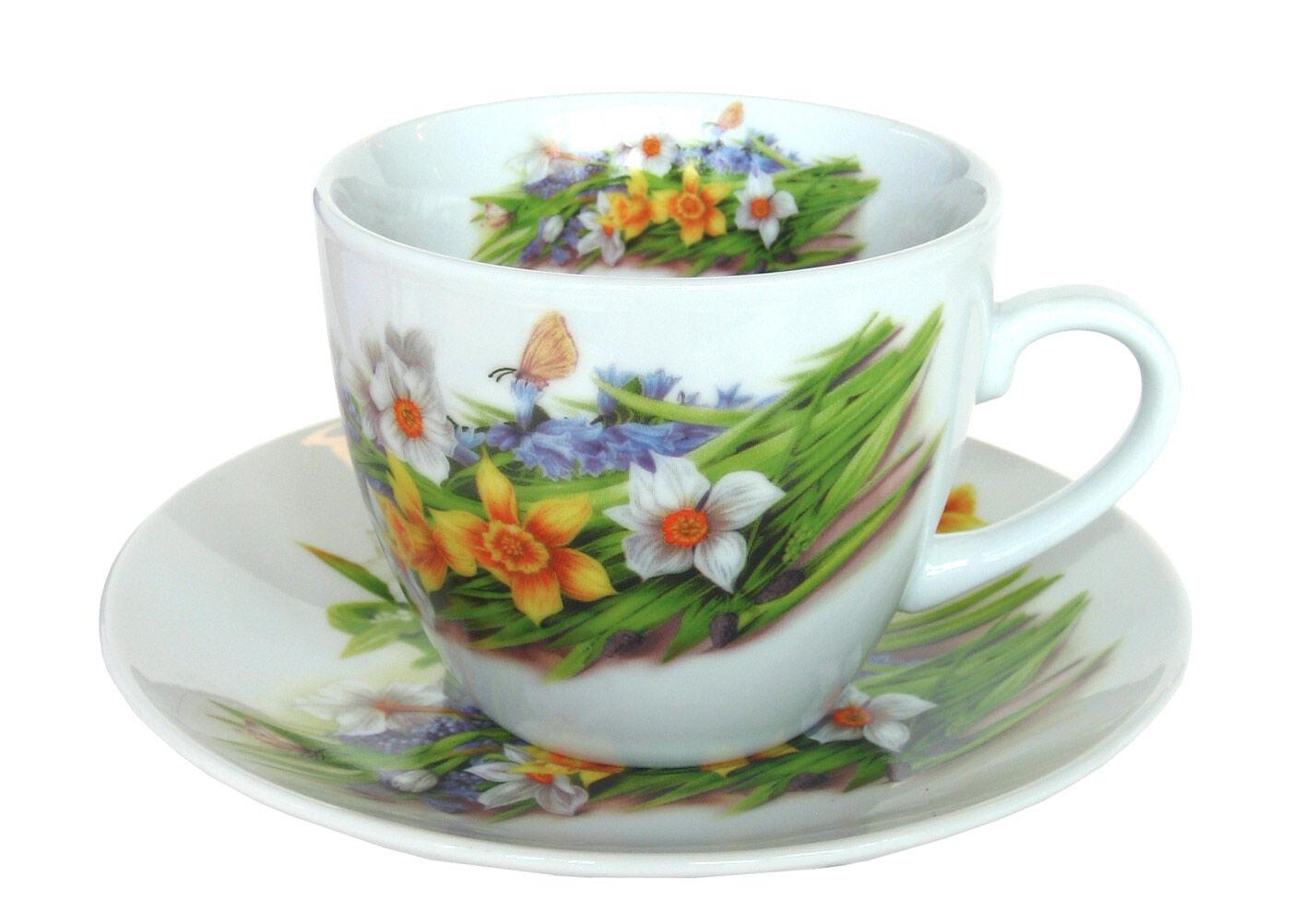ASI Collektion Kahvikuppi ja lautanen NARSISSI 200 ml, 6 kpl