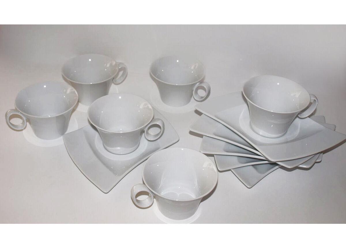 Kahvikupit ja lautaset WING, 6 kpl