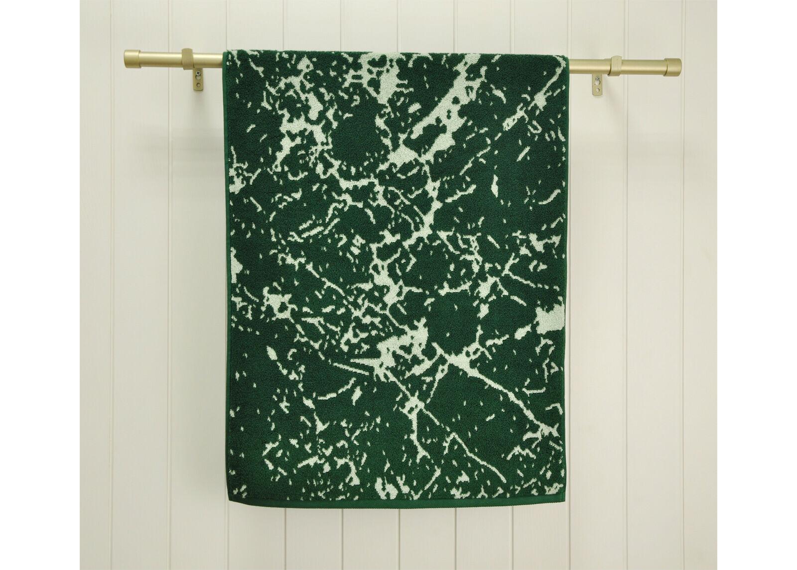 ARDENZA Froteepyyhe Marble, vihreä 48x90 cm