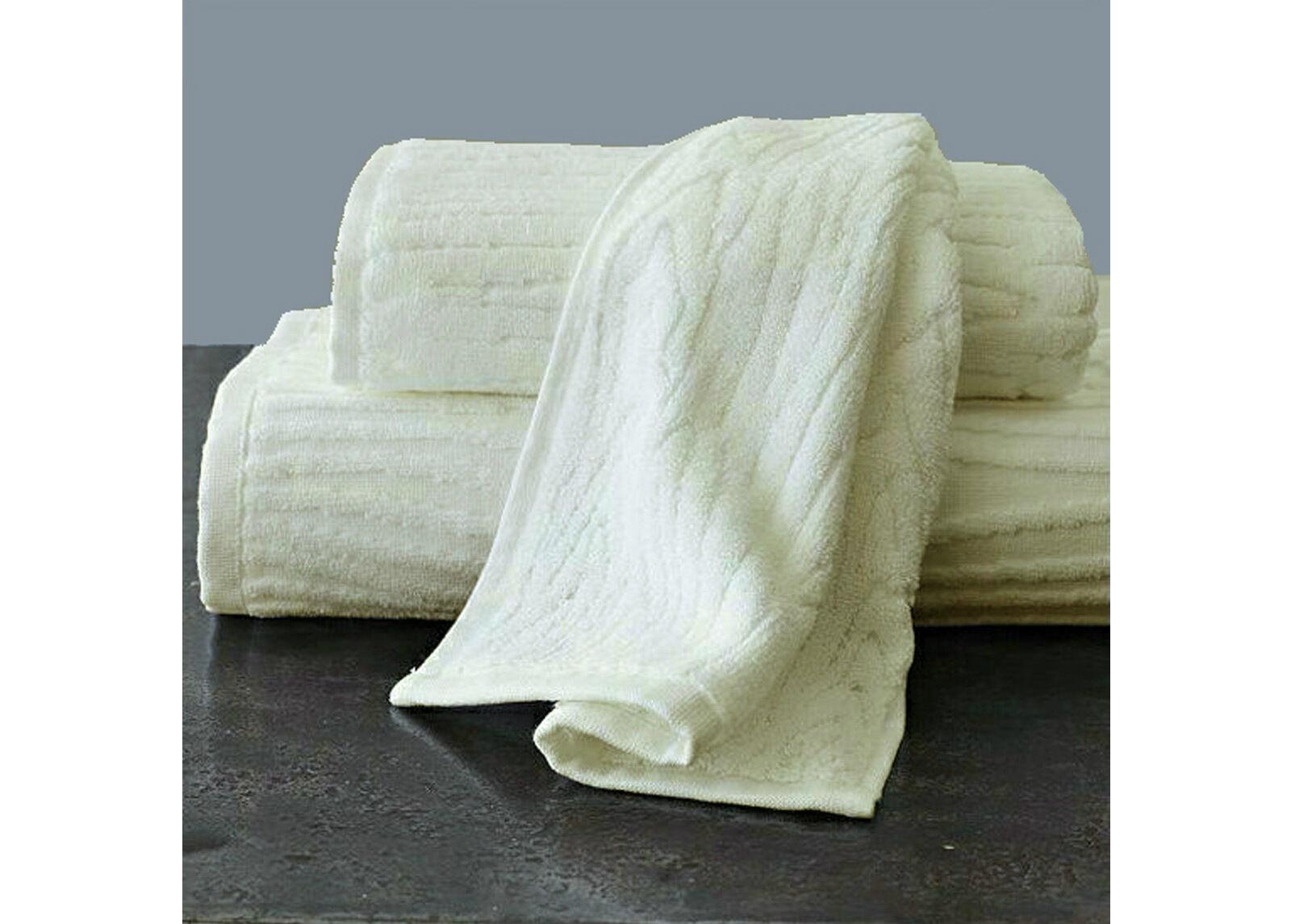 ARDENZA Froteepyyhe Wood, valkoinen 48x90 cm