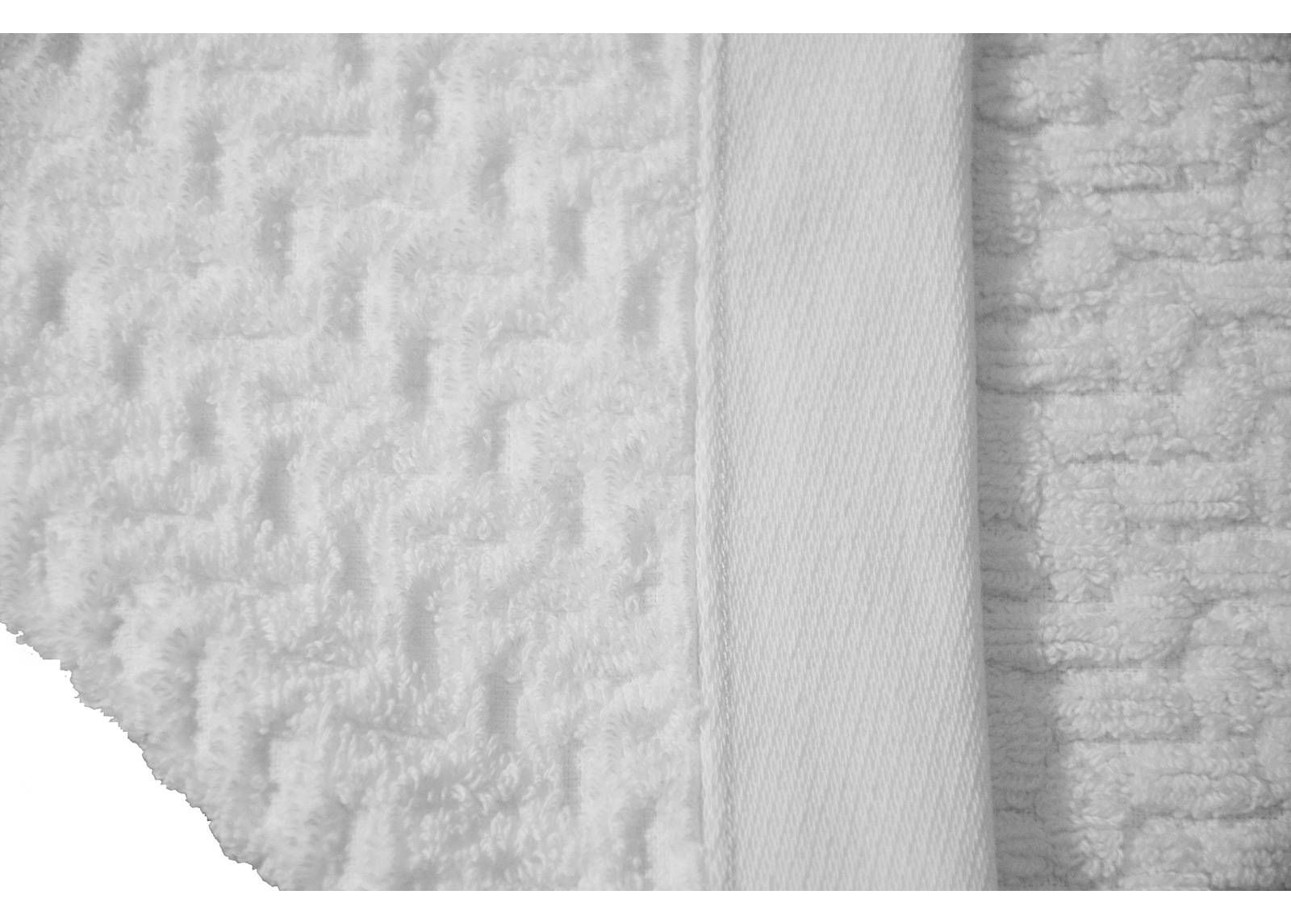 ARDENZA Froteepyyhe Bricks, valkoinen 70x140 cm