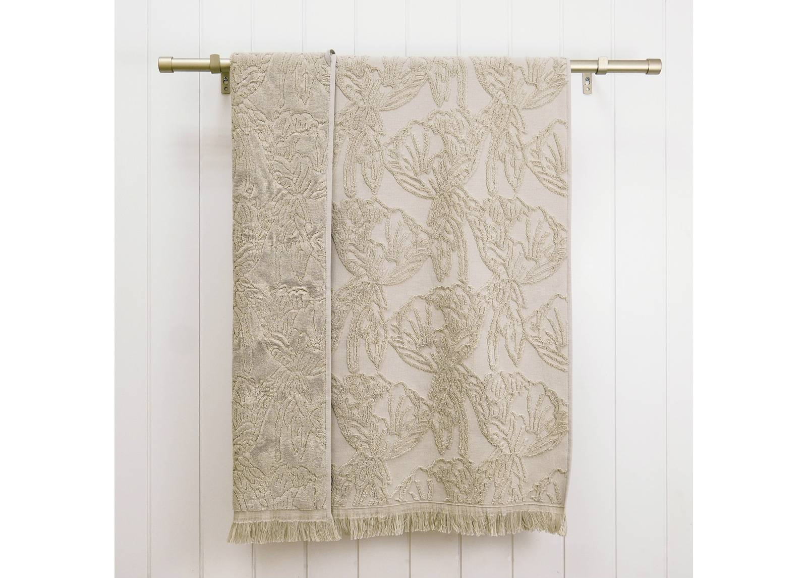 ARDENZA Froteepyyhe Blossom Blossom, beige 70x140 cm
