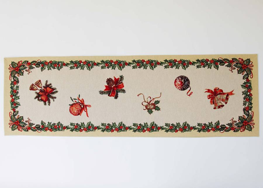 SikSak Gobeliini joululiina HOLLY 45x140 cm