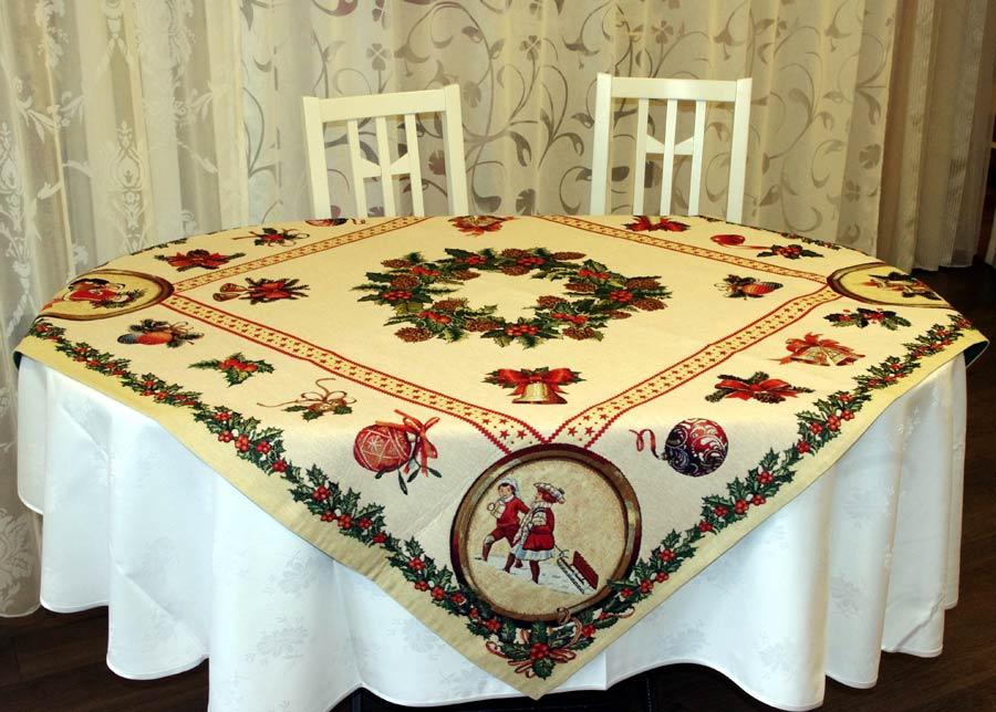 SikSak Gobeliini joululiina HOLLY 100x100 cm