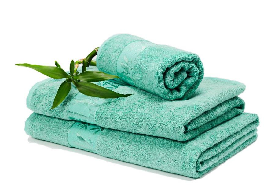 DOSSA Lux Bambu pyyheliinasetti turkoosi