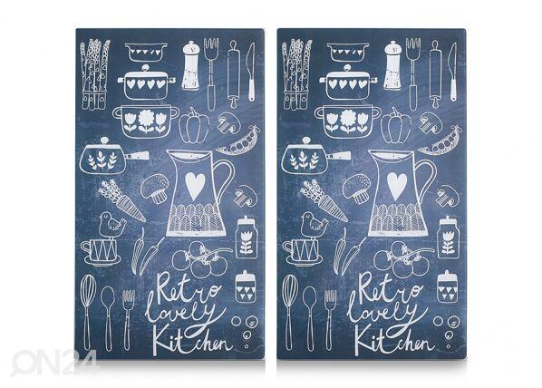 Image of Zeller Present Räiskesuoja/liesisuoja Lovely Kitchen 52x30 cm 2 kpl