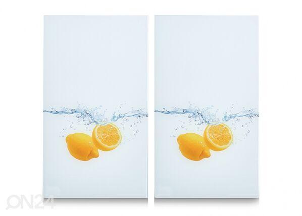 Image of Zeller Present Räiskesuoja/liesisuoja Lemon Splash 52x30 cm 2 kpl
