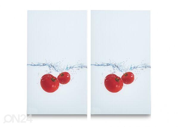 Image of Zeller Present Räiskesuoja/liesisuoja Tomato Splash 52x30 cm 2 kpl