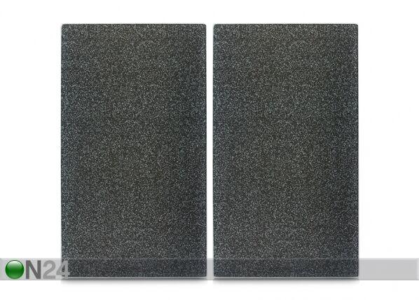 Image of Zeller Present Räiskesuoja/liesisuoja Graniitti 52x30 cm 2 kpl