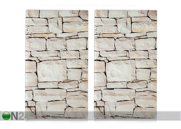 Image of Zeller Present Räiskesuoja/liesisuoja Stone 52x30 cm 2 kpl