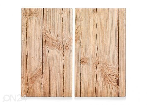 Image of Zeller Present Räiskesuoja/liesisuoja Wood 52x30 cm 2 kpl