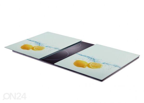 Image of Zeller Present Räiskesuoja/liesisuoja Lemon Splash XL 52x40 cm 2 kpl