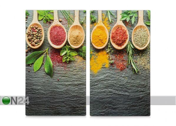 Image of Zeller Present Räiskesuoja/liesisuoja Spices 52x30 cm 2 kpl
