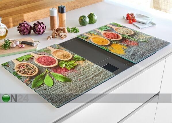 Image of Zeller Present Räiskesuoja/liesisuoja Spices XL 52x40 cm 2 kpl