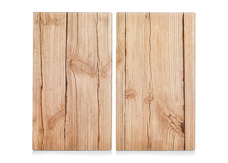 Zeller Present Räiskesuoja/liesisuoja Wood 52x30 cm 2 kpl