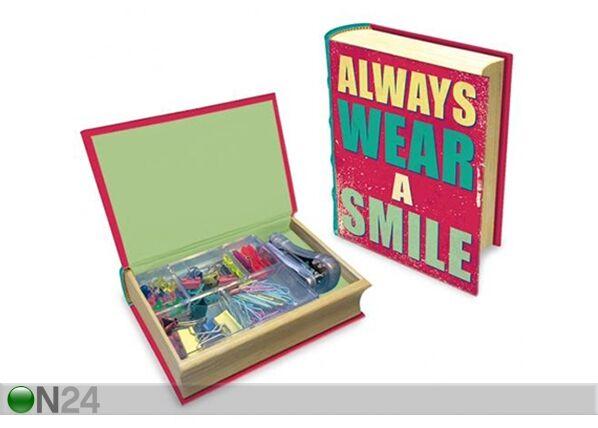 MAKU Kirjan mallinen laatikko MAKU HAPPY QUOTES