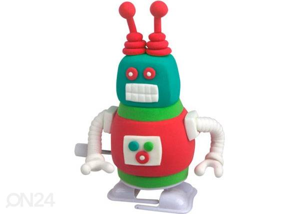 Paulinda Muovailuvaha SUPER DOUGH NERO ROBOTTI, 2 kpl