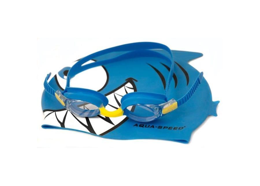 Aqua-Speed Lasten uimalakki ja -lasit Aqua-Speed Set Fish Junior 1148