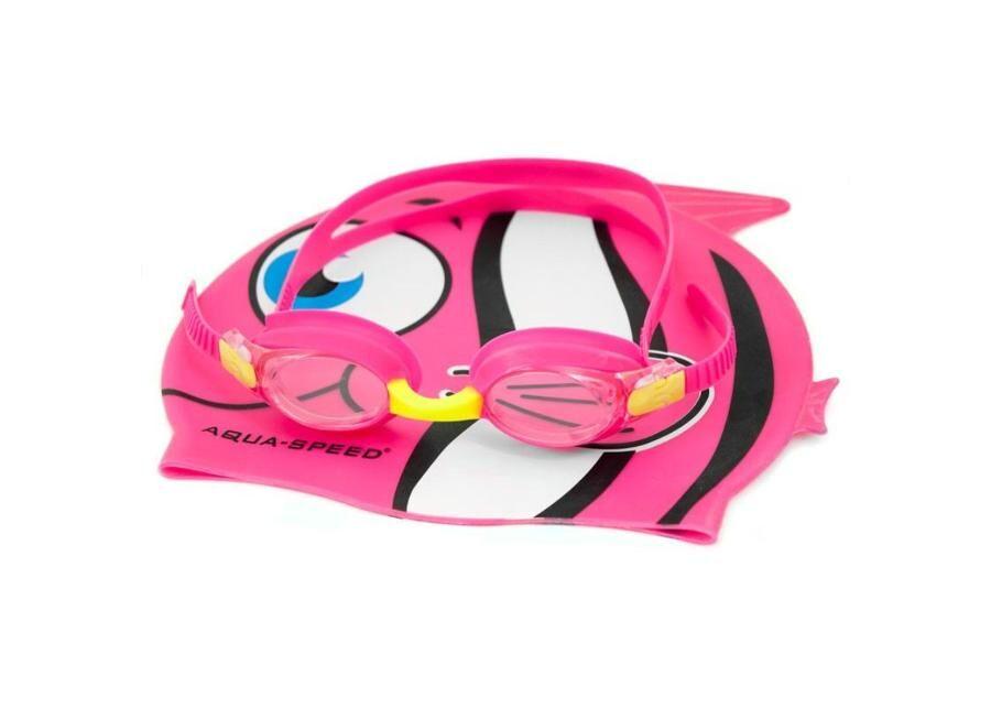 Aqua-Speed Lasten uimalakki ja uimalasit -setti Aqua-Speed Set Fish Junior