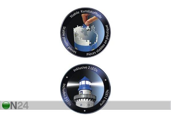 RAVENSBURGER 3D pimeässä hohtava palapeli majakka 216 osaa