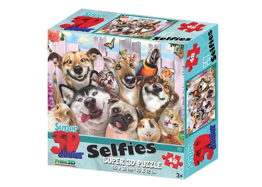 Kidicraft Palapeli 3D Lemmikkieläimet selfiessä 48 osaa