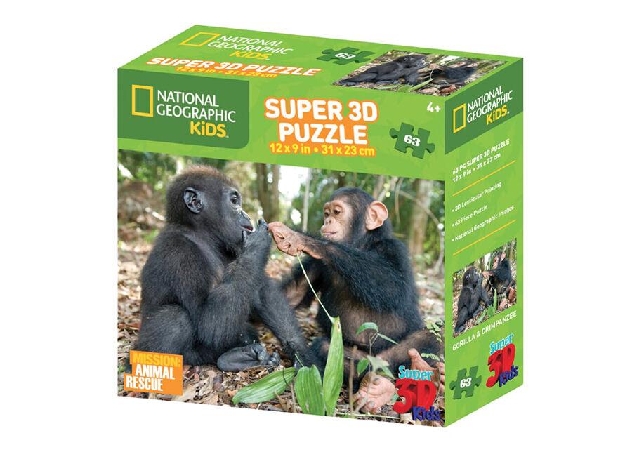 Kidicraft Palapeli 3D Simpanssi ja gorilla 63 osaa