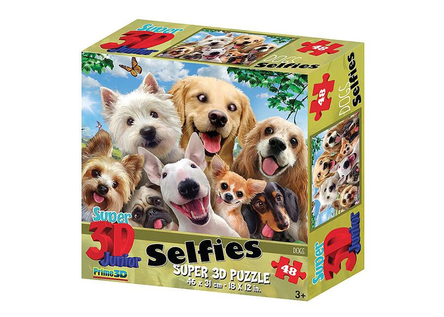 Kidicraft Palapeli 3D Koirat selfiessä 48 osaa
