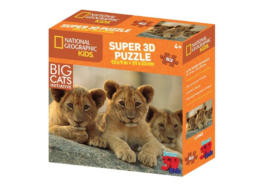 Kidicraft Palapeli 3D Afrikan leijonat 63 osaa