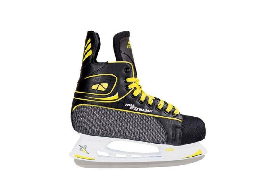 Nils Extreme Miesten jääkiekkoluistimet Nils Extreme musta-keltainen 44 NH8556