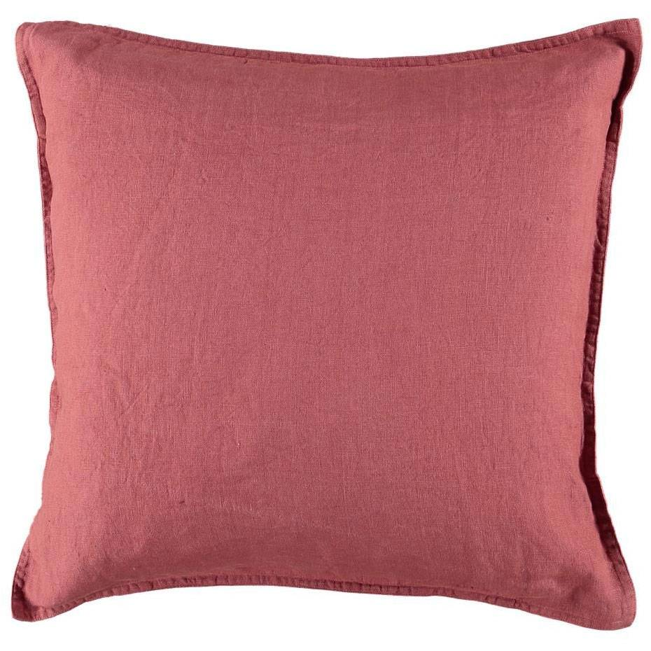 Gripsholm Washed Linen Cushion Cover 50x50 cm, Rouge