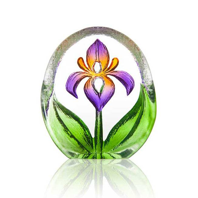 Målerås Glasbruk Floral Fanasy Miniatyr Lilja, Violetti