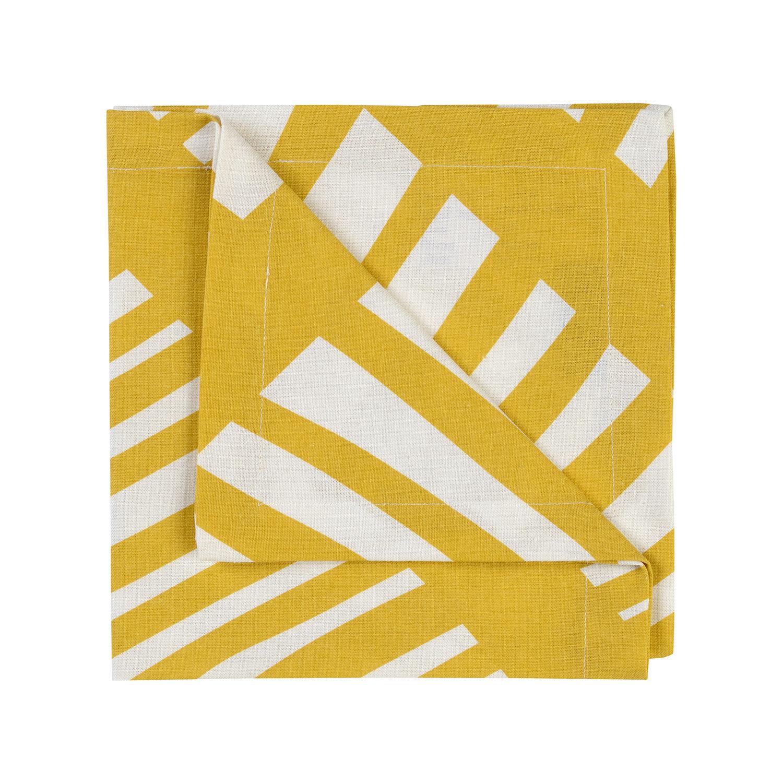 Linum Firenze Servetti 45x45cm, Mustard Yellow