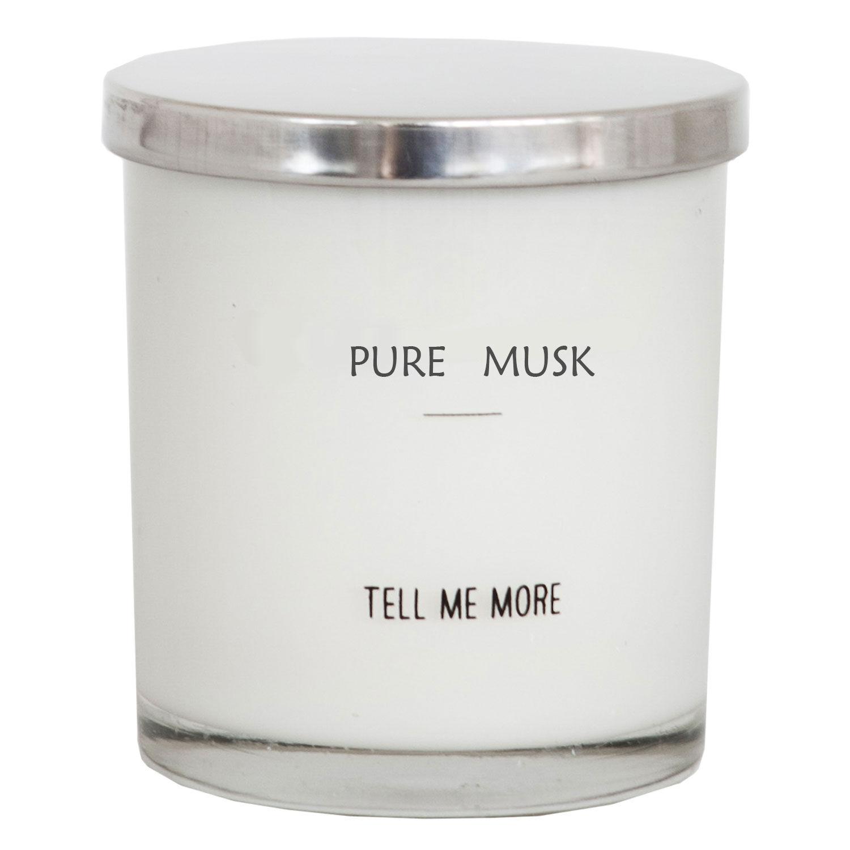 Tell Me More Soy Wax Tuoksukynttilä, Pure Musk