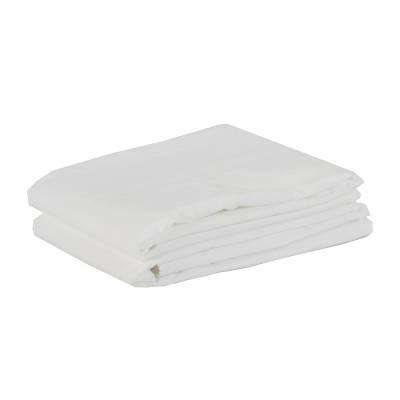 Tell Me More Cotton Pillowcase 50x70 cm 2 pack, Bleached White