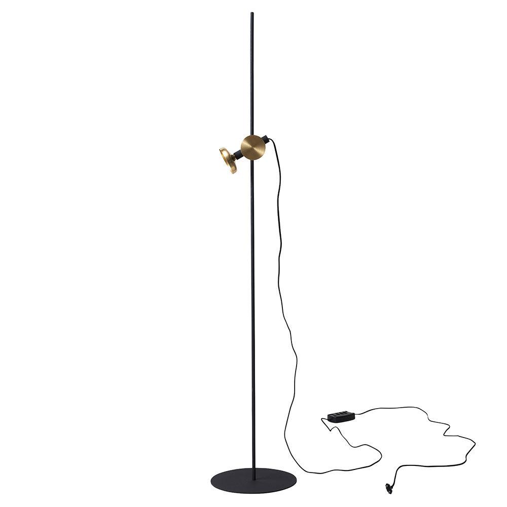 Pholc Blend-jalkalamppu, Musta/Messinki