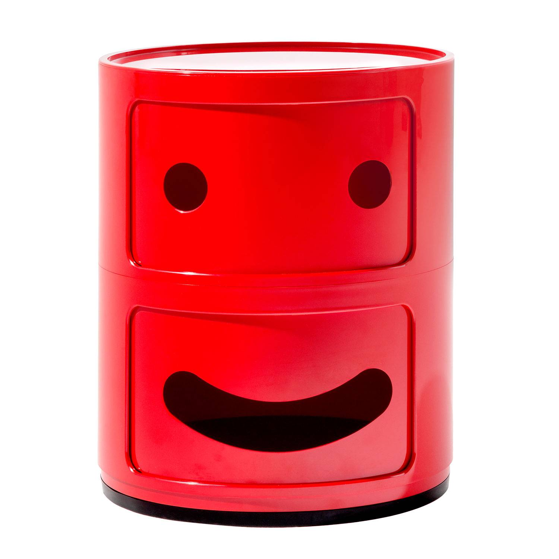 Kartell Componibili Smile Säilytys 2 Lokeroa, Punainen
