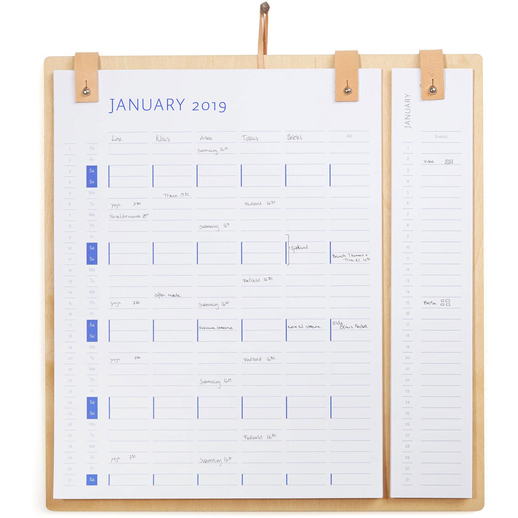 by Wirth Planner Board Calendar 2019/2020