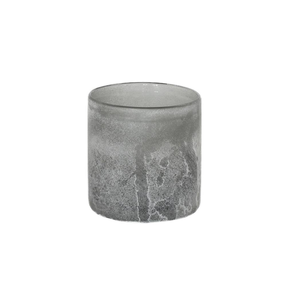 Tell Me More Frost Candleholder S, Grey