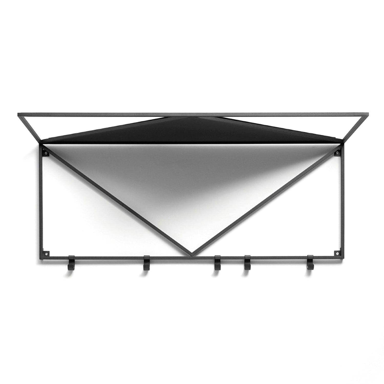 Essem Design Minimalisten Hattuhylly 80cm, Musta