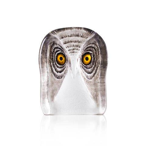 Målerås Glasbruk Wildlife, Pöllö, Medium, Maalattu