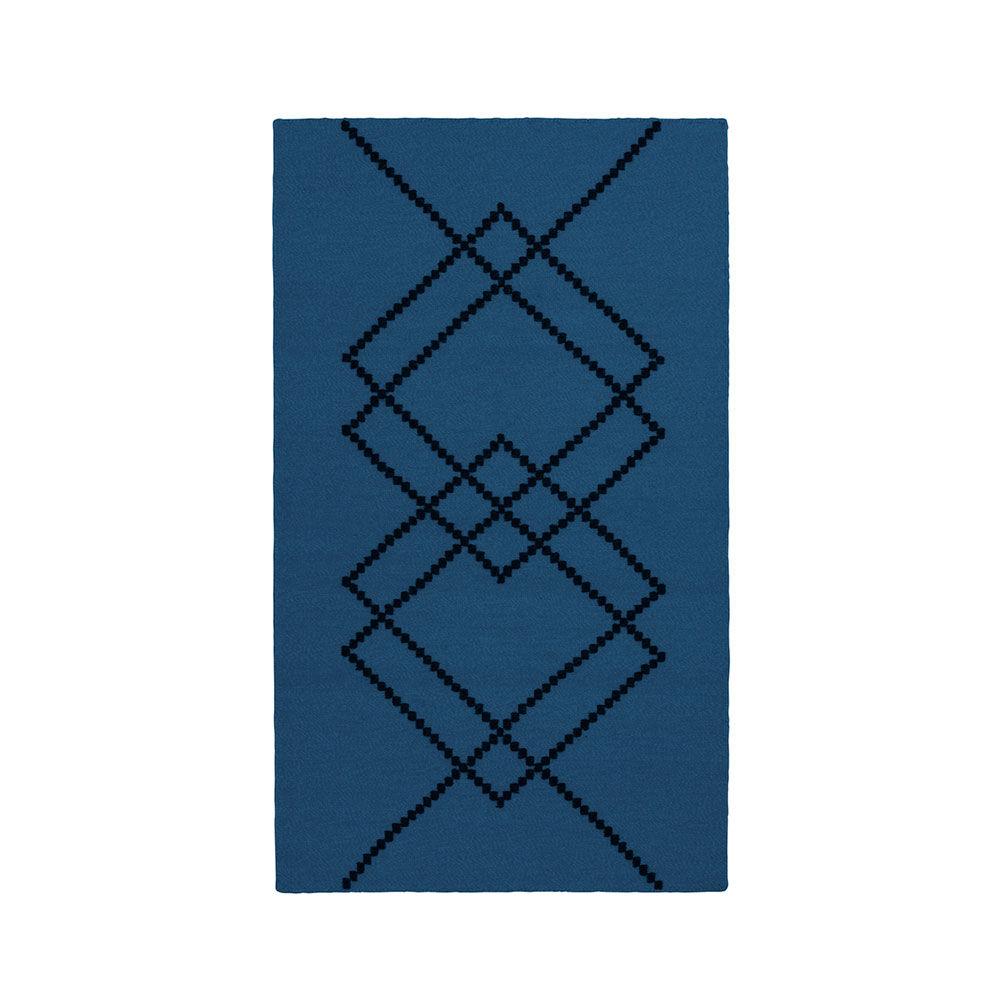 Louise Roe Matto Borg 80x140cm, Royal Blue