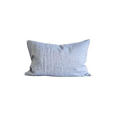Tell Me More Linen Pillowcase 50x70 cm 2 pack, Woven Light Blue