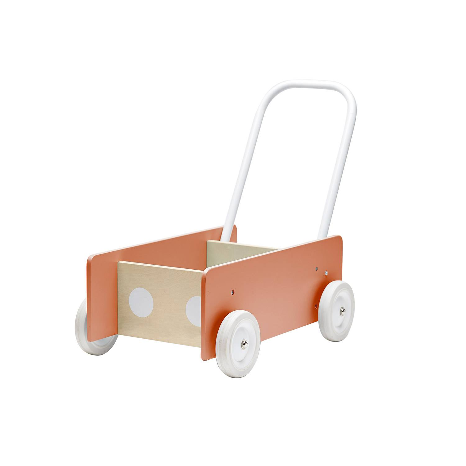 Kids Concept Learn To Walk Wagon, Apricot