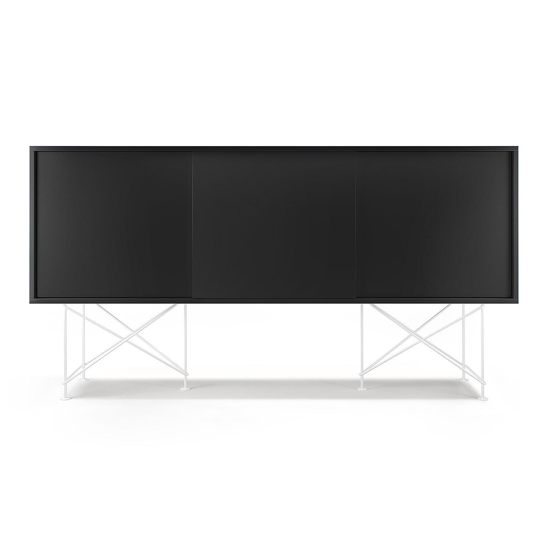 Decotique Vogue Sideboard 180H, Antracit/3A/Valkoi.
